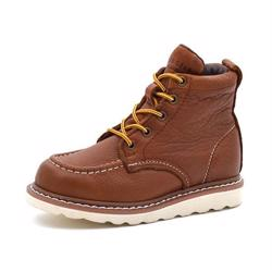 Rugged Gear Worker Stiefel, cognac