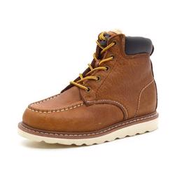 Rugged Gear Worker Stiefel gefüttert, cognac