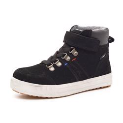 Rugged Gear Stitch Velcro Tex Wintersneaker, schwarz