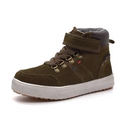 Rugged Gear Stitch Velcro Tex Wintersneaker, khaki