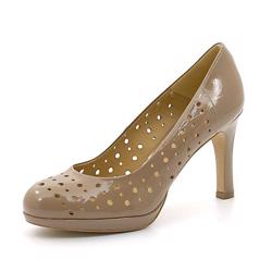Ahler Damen Pumps / Stiletto mit Lochung, puder