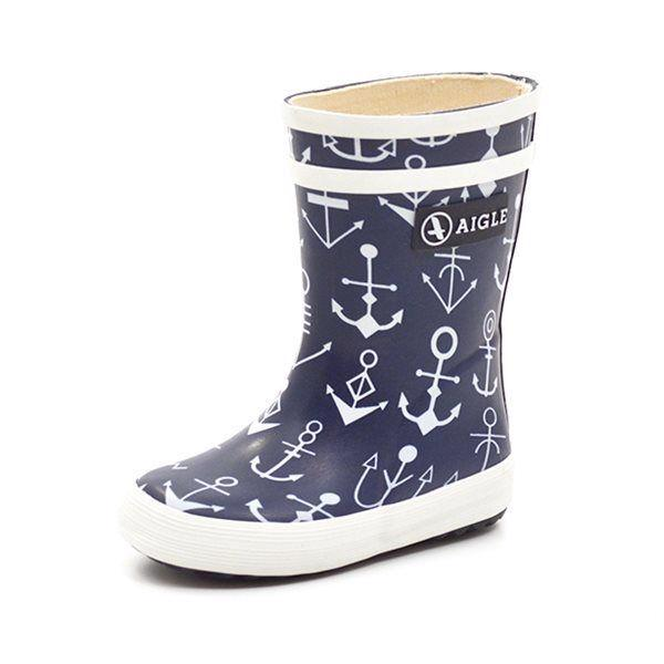 Aigle Baby Flac Gummistiefel Anker. navy