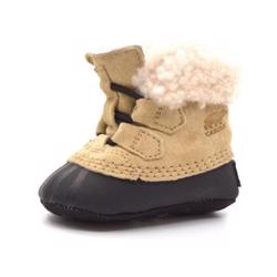 Sorel Caribootie Babyschuh, curry