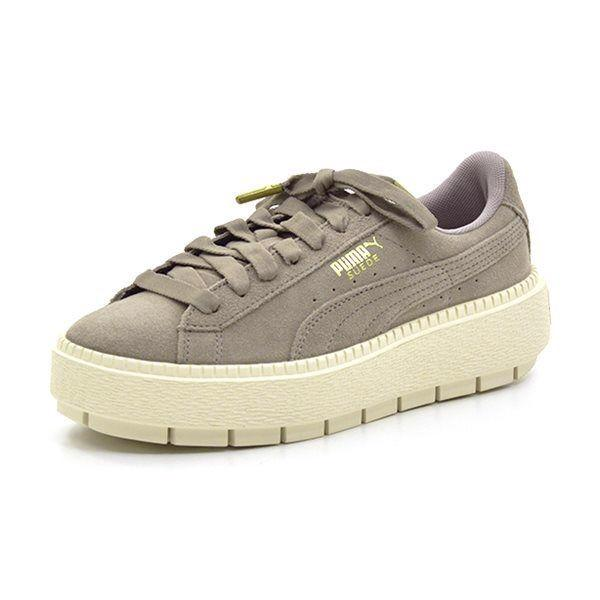 PUMA suede Creeper Sneakers, grau