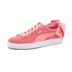 PUMA  suede Bow Sneaker, peach pink