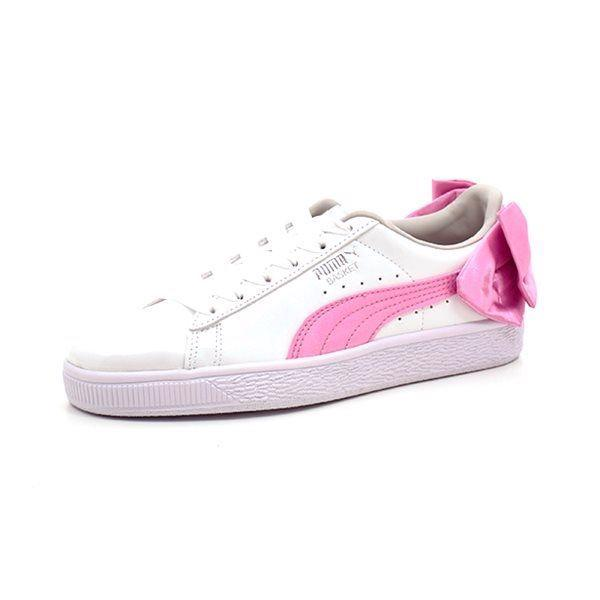 PUMA  Basket Bow Sneakers, weiß/rosa