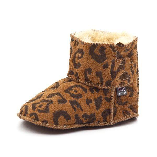 best service 6f50e 91287 Melton Babyschuhe Lammfell, leopard