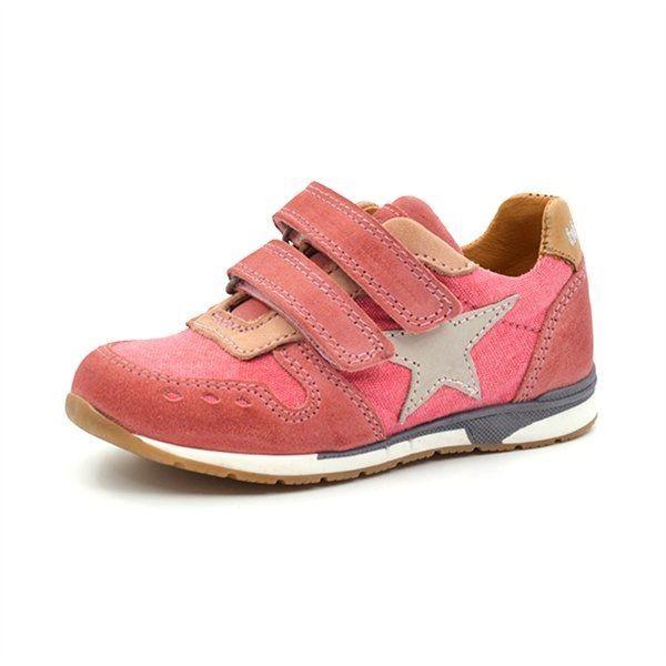 bisgaard sneaker klettverschluss stern pink. Black Bedroom Furniture Sets. Home Design Ideas