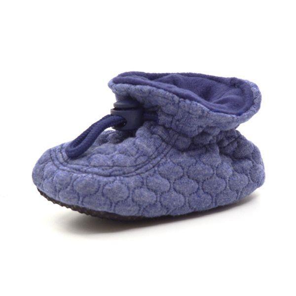 brand new 07f35 fc91a Melton Babyschuhe mit Gummizug, blau