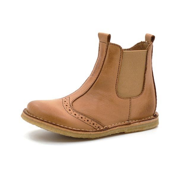 separation shoes bfba2 f1c4b Bisgaard Stiefelette Chelsea m. Lochungmuster, cognac