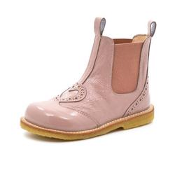 Angulus Stiefelette Chelsea Boot Herz, Lack rosa