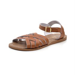 Salt Water Retro Sandale geflochten, tan cognac