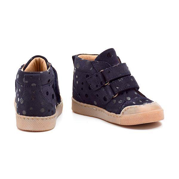 superior quality 5a3d7 8031b Pom Pom Klett-Sneaker gepunktet, navy dots