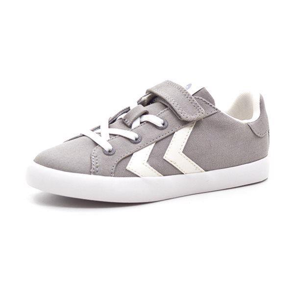 Hummel Deuce Court JR Low Canvas Sneaker, grau