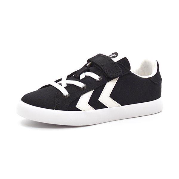 Hummel Deuce Court JR Low Canvas Sneaker, schwarz