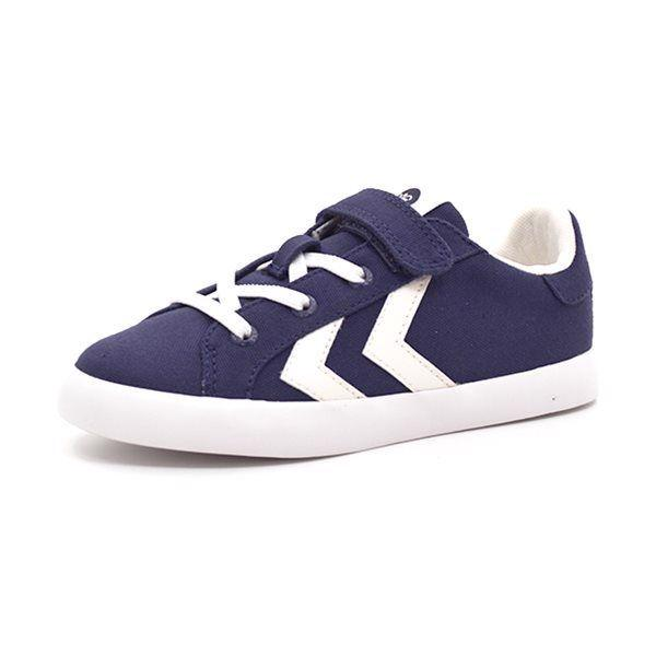 Hummel Deuce Court JR Low Canvas Sneaker, navy