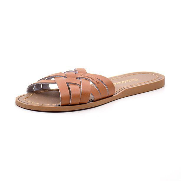 Salt-Water Retro slide Slipper Sandale cognac