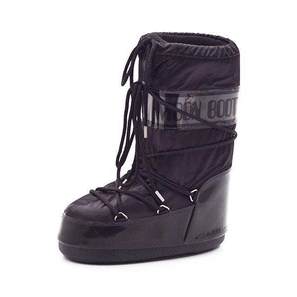 new concept 79e9a e089e Moon Boots Glance Stiefel, Lack schwarz