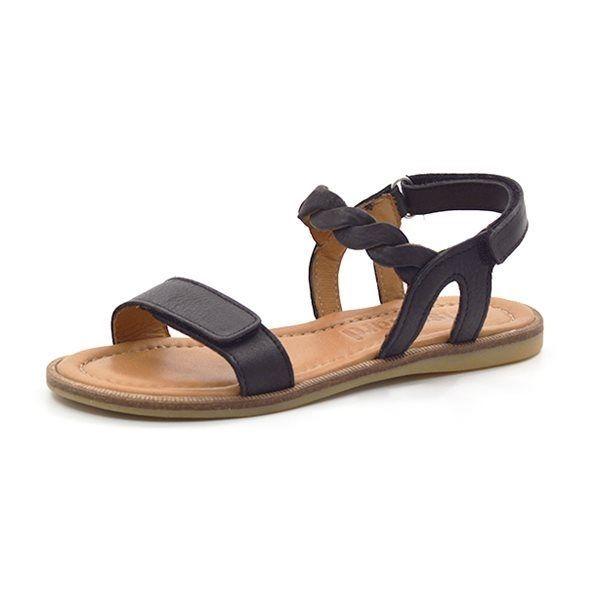 bisgaard sandale flechtriemen schwarz. Black Bedroom Furniture Sets. Home Design Ideas