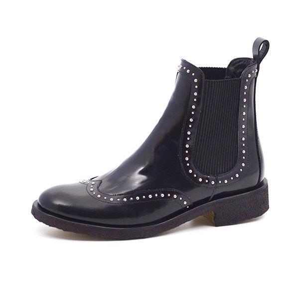 144ecab3e63 Angulus Chelsea boot Stiefelette Nieten, schwarz