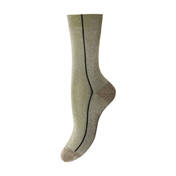 MP Denmark Holly Socken Streifen Glimmer, gold