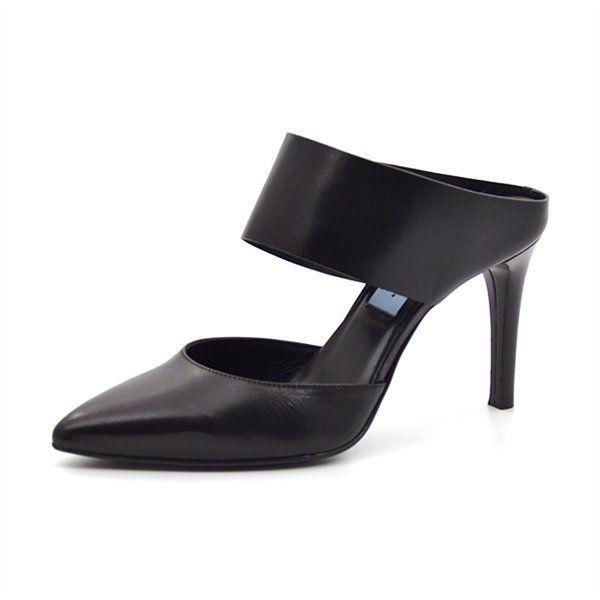 Apair Sabot High-Heels, schwarz