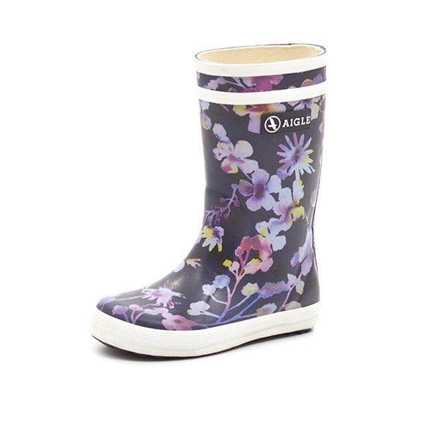 Aigle Lolly Pop Gummistiefel wild flower, navy