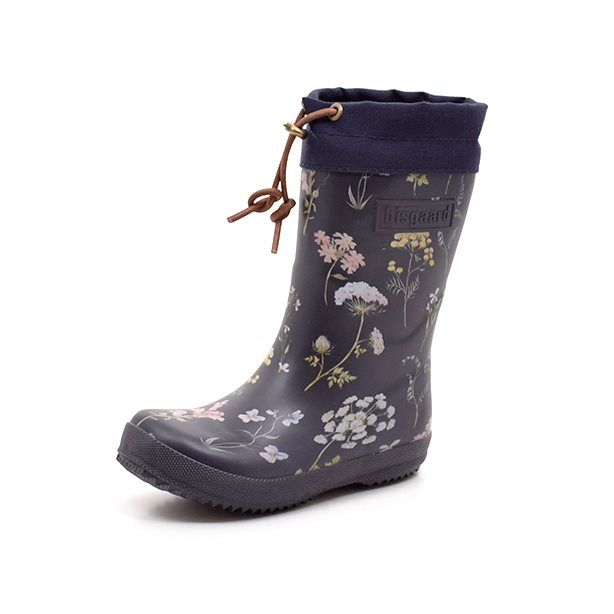 reputable site 9242d 17566 Bisgaard Winter-Gummistiefel gefüttert Flower, navy