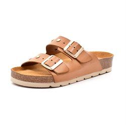 AMUST Frida Komfort Sandale m. Nieten, light tan
