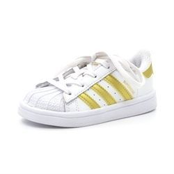 Adidas Superstar 1 Sneaker, weiß/gold