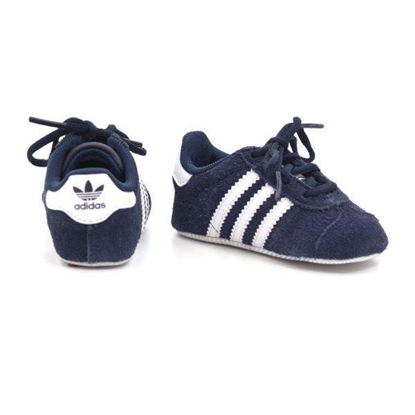 Adidas Gazelle Crib Baby Sneaker, navy