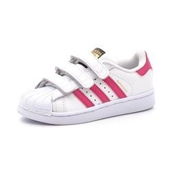 Adidas Superstar Foundation Cf C Sneaker, weiß/pink