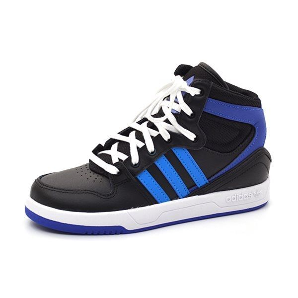 adidas court attitude k sneaker schwarz blau. Black Bedroom Furniture Sets. Home Design Ideas