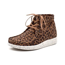 Nature Footwear Emma Schnür Boot, leopard