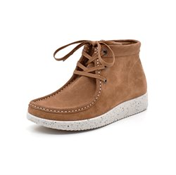 Nature Footwear Emma Schnür Boot, cognac