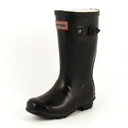 Hunter Kids Kinder Gummistiefel schwarz