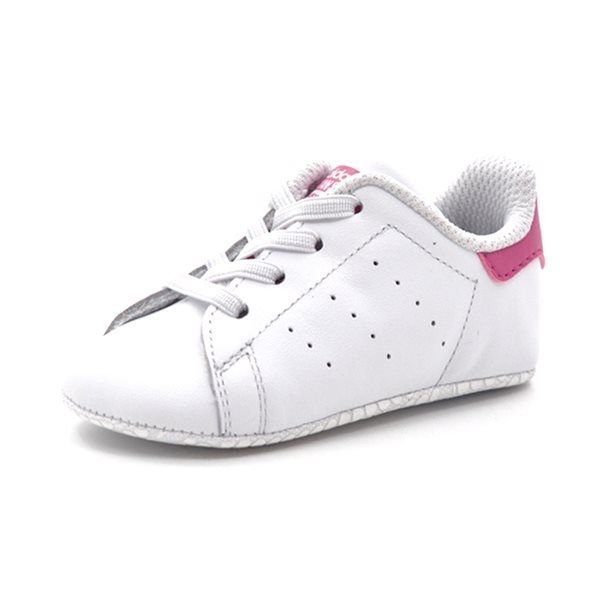 official photos f935d 1e351 Adidas Stan Smith Crib Baby Krabbelschuh, weiß/pink