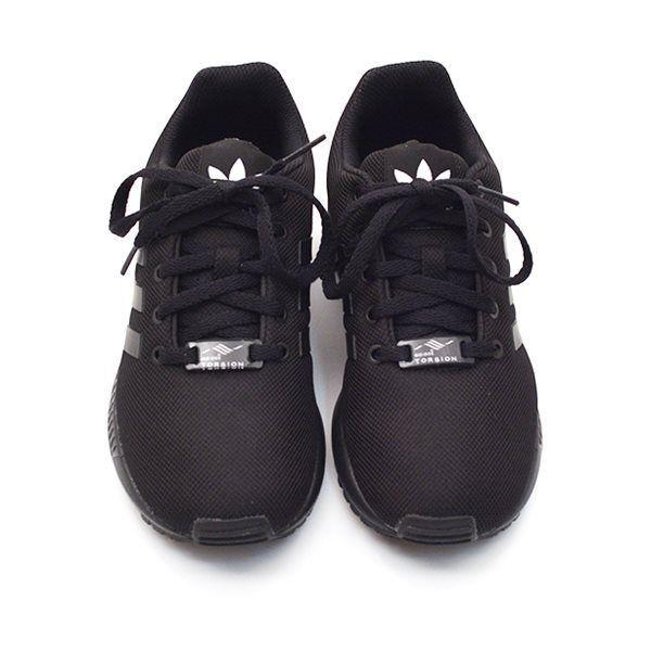 adidas zx flux k schwarze sohle schwarz. Black Bedroom Furniture Sets. Home Design Ideas