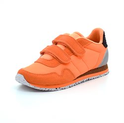 Woden Nor Sneaker, neon orange